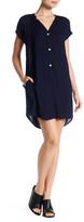 Allen Allen Rayon Challis Shirt Dress