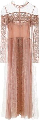 RED Valentino Plumetis And Lace Dress