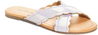 dELiA*s Girls' Sandals Lilac - Lilac Iridescent Crisscross Slide - Girls