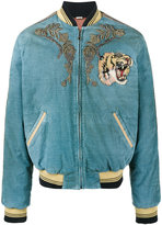 Gucci Loved embroidered bomber jacket - men - Silk/Cotton/Polyester/Viscose - 48