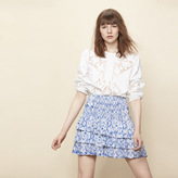 Maje Printed ruffled skirt