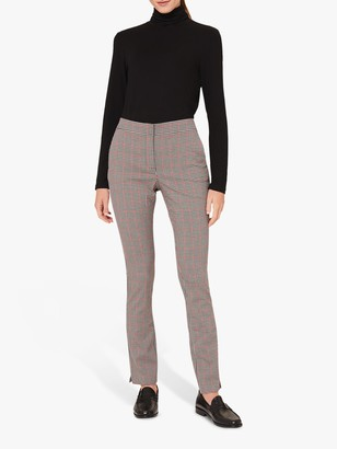 Hobbs Annie Check Trousers, Red/Black