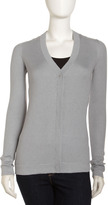 Isda & Co Luxe Cashmere-Blend Cardigan, Ghost