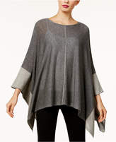 Eileen Fisher Colorblocked Poncho Sweater, Created for Macy's