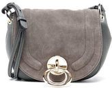 Diane von Furstenberg Women's Love Power Suede Saddle Bag Slate