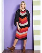 Fashion World Knitted Chevron Dress