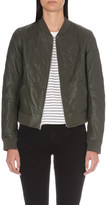 Paige Zoey leather bomber jacket