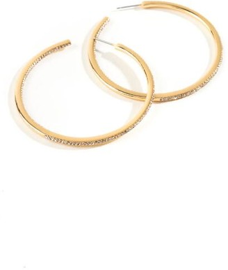francesca's Brielle Crystal Hoops - Gold