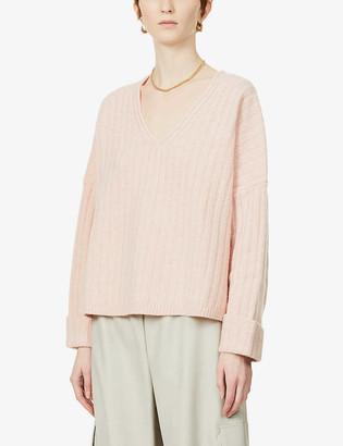 Reiss Nina V-neck wool-cashmere blend jumper