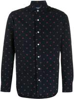 Barba dotted corduroy shirt