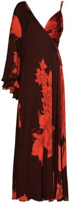 Johanna Ortiz Floral-Print Asymmetric Maxi Dress