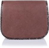 Jimmy Choo Zadie purple leather satchel