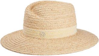 Maison Michel Virginie Natural Straw Fedora Hat