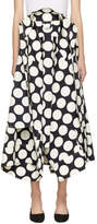 Awake Navy and Off-White Giant Polka Dot Skirt