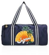 See by Chloe Andy Embroidered Satin Duffel Bag