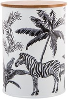 Summerhouse By Navigate Madagascar Canister with Bamboo Lid Zebra