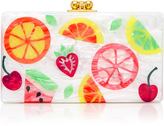 Edie Parker M'O Exclusive Jean Fruit Cocktail Acrylic Clutch