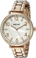 Nine West Women's NW/1732WMRG Swarovski Crystal Accented Rose Gold-Tone Bracelet Watch