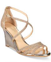 Badgley Mischka Hunt Evening Wedge Sandals Women's Shoes