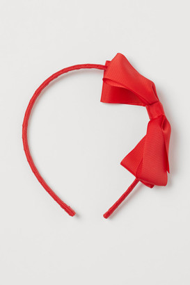 H&M Bow-detail Hairband - Red