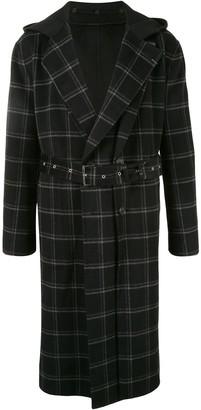 SONGZIO Reversible Check Hooded Coat