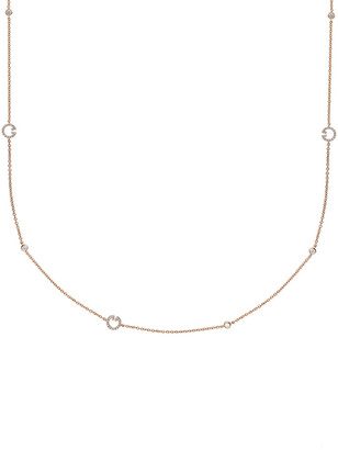 Memoire L Collection 18K Rose Gold 0.45 Ct. Tw. Diamond By The Yard Necklace