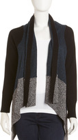 Yigal Azrouel Cut25 by Melange Colorblock Sweater, Jet/Multicolor