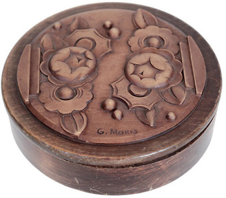 One Kings Lane Vintage Signed Deco Hand-Carved Wood Box