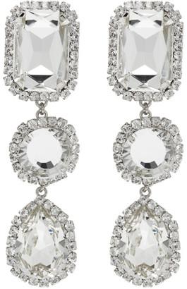 Wandering Silver Crystal Stone Drop Earrings
