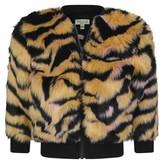 Kenzo KidsGirls Tiger Faux Fur Reversible Jacket