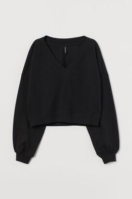 H&M V-neck Sweatshirt