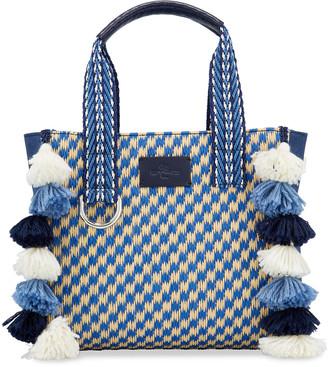 Etro Boho Shopping Tote Bag with Fringe Tassels