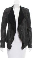 Illia Leather Draped Jacket w/ Tags