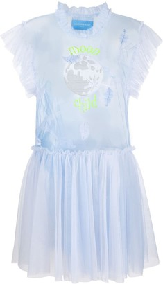 Viktor & Rolf Moon Child embroidered sheer dress