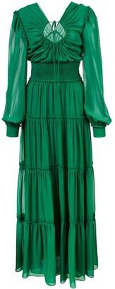 Proenza Schouler Crepe Chiffon Keyhole Dress