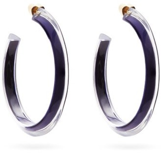 Alison Lou Jelly Medium 14kt Gold-plated Hoop Earrings - Blue
