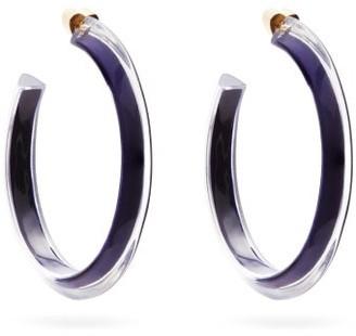 Alison Lou Jelly Medium 14kt Gold-plated Hoop Earrings - Womens - Blue