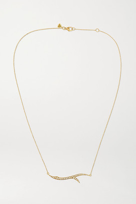 Stephen Webster + Net Sustain Thorn Stem 18-karat Recycled Gold Diamond Necklace - one size