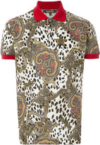 Roberto Cavalli leopard paisley print polo shirt - men - Cotton - L