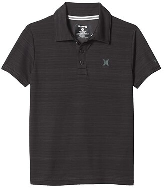 Hurley Dri-FITtm Polo Shirt (Little Kids) (Black Heather) Boy's Clothing