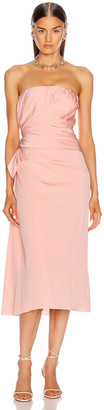 Dolce & Gabbana Strapless Midi Dress in Light Powder Rose | FWRD