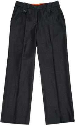 Colombo Grey Wool Trousers for Women