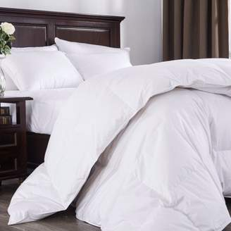 Pure Down Puredown 800 Fill Power White Goose Down Comforter, 700 Thread Count, 100% Cotton Fabric, Queen Size, White