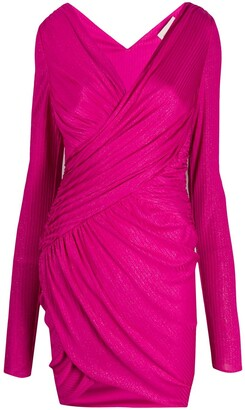 Alexandre Vauthier Metallic Fitted Short Dress