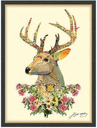 Empire Art Direct Mrs. Deer Framed Artwork By Alex Zeng