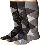 Gold Toe Men's Carlyle Argyle Extended Size Crew Socks (Pack of 3)