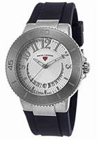 Swiss Legend Women's 'Riviera' Quartz Stainless Steel and Silicone Watch, Color:Blue (Model: 11315SM-02-BLS)