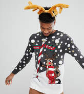 Brave Soul TALL Holidays Naughty Reindeer Sweater