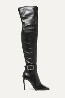 Jimmy Choo Takara 100 Leather Over-the-knee Boots - Black