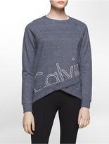 Calvin Klein Performance Logo Cropped Sweatshirt